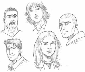 Faces practice by Omaik