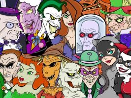 Rogues Gallery Wallpaper by Ciro1984