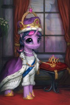 Princess Twilight Coronation Portrait by AssasinMonkey