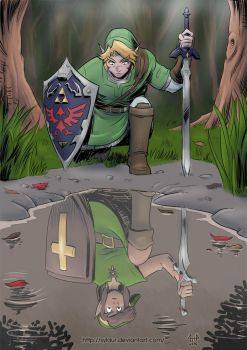 Hero of Time Past (30th Zelda Anniversary) (color) by Syldur