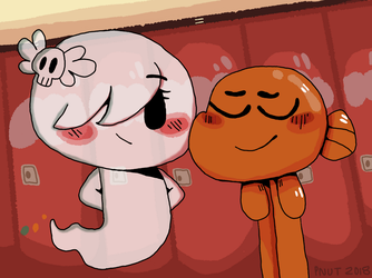 Carrie and Darwin by peanutcat62