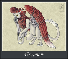 Mythical Creatures-Gryphon by BlueEyesBlackTears