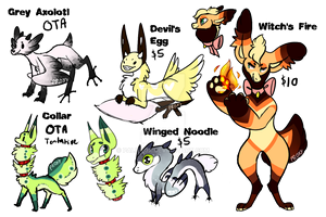 Random creatures for SALE!! by PalieFox