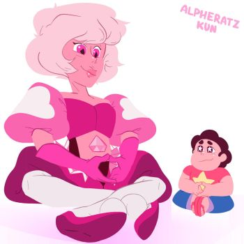 Steven with his mom by AndromedaeAlpha