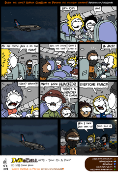 Dave On A Plane by ChazzyDoody