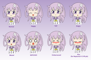Hyperdimension Neptunia *Nepgear* Expression Sheet by gaming123456