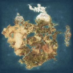 Blank Fantasy Map - High Resolution by Quabbe