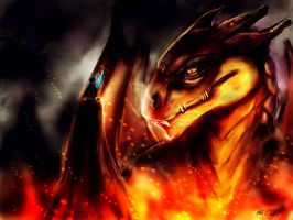 who doesn't love dragons, that guy with the sword! by Mark-Clark-II