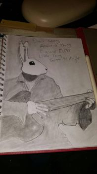 unfinished Guitar Rabbit by DraigonSwords