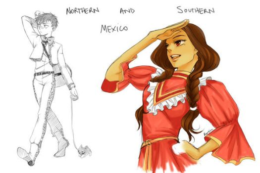 +APH OC+ Mexico by Rowein