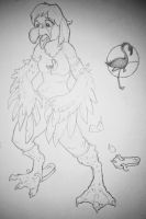 Flamingo TF Preliminary Sketch by Cayuga