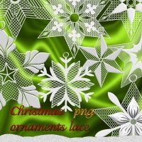 Christmas ornaments lace by roula33