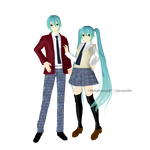 TDA School Series - Hatsune + Dl link by AkikoKamui97