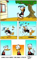 DONALD DUCK by Dave Alvarez in Carl Barks Style by DaveAlvarez