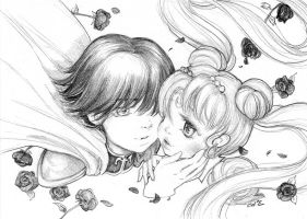 Princess Serenity and Prince Endymion by camilladerrico