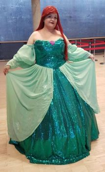 Ariel Green Gown - Redesign (Disney) by Ki-Plueschie