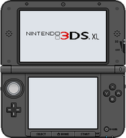 Nintendo 3DS XL [black] by BLUEamnesiac