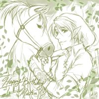 Link and Epona by konoesuzumiya