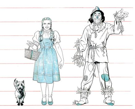 WIZARD of OZ LINE-UP by Jerome-K-Moore