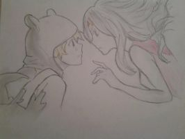 flame princess and finn by ThatGuyWhoDoeStuff