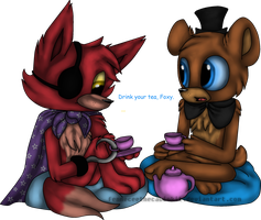 Tea Time with Freddy by TheLooneyCharboa