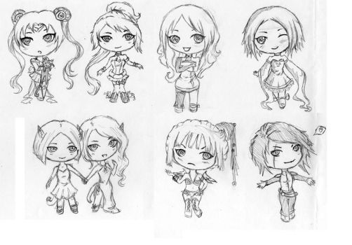 Chibi set by elotta
