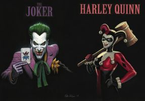 The Joker and Harley Quinn by Habjan81