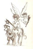 KH Trinity in Narnia World by FerioWind