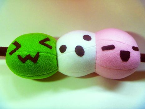Dango Plushie by JustMadeCute