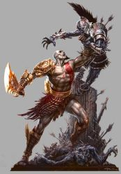 God of War III- PSM3 Artwork by andyparkart