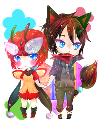 MI - Chibi Couple RyuBy by LovelySucre