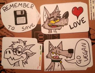 Traditional stickers (save-dwagon-love-go_vegan) by reptifur