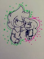 Green and Pink by Bunny-Pink
