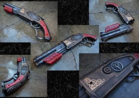 Renegade Red Accented Steampunk by KillingjarStudios