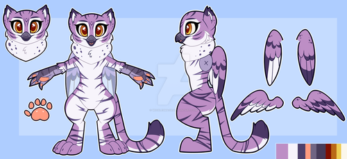 Taro Official Fursuit Reference Sheet by Wicklesmack