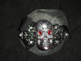 Frilly Skull Barrette by Batalha-Enterprises