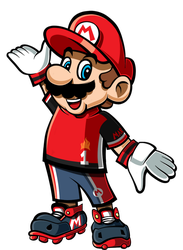 Mario with Striker Uniform by FabianElGringoART