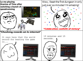 Rage Comic - Speedrunning by Catabatik