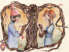 Over The Garden Wall - Wirt and Beatrice by Fabryei-fabryei