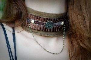 steampunk drop chain choker by TheHauteDame
