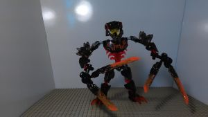Bionicle Transformer Lava Cutter (Robot mode) by sideshowOfMadness