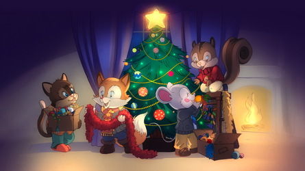 Comm: Decorating the Tree by SicilianValkyrie