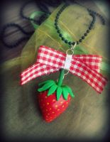 Strawberry pendant by maryazzfire