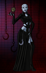 Special Halloween 4 Female Cenobite by darkkeferas