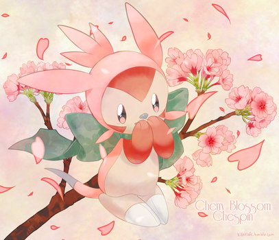 Day 1: Cherry Blossom Chespin by Yajuuu