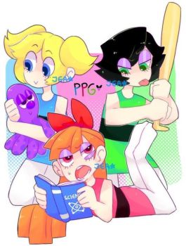 Power Puff Girls doodle by JEAris