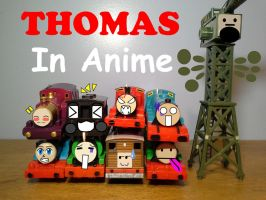 Thomas and Friends with Anime/Manga Faces by TrainboysArtwork