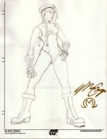 Street Fighter Cammy con sketc by MarOmega