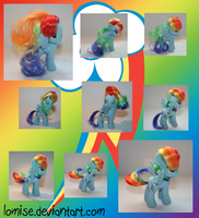 Hair Styled Rainbow Dash Doll by Lomise