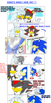 Sonic's manly hair day by missyuna
